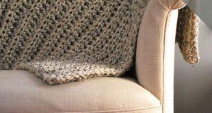 Crochet PATTERN - Throw Blanket - Cozy Blanket - Chunky Throw - Easy