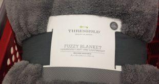 BEST BLANKET EVER! Threshold fuzzy blanket. Target $39.99. (Already have 1 grey ...