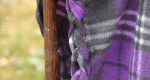 Braided Edge Fleece Blanket Tutorial