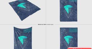 Fuzzy Blanket Mockup Set #Ad , #spon, #net#behance#creatsyofficial#instagram