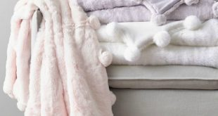 Luxe Faux Fur Pom-Pom Throw