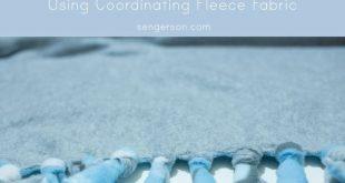 No Sew Fleece Blanket Baby and New Mom Gift