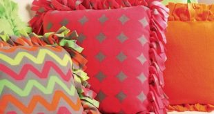 Super Cute Neon No-Sew Fleece Pillows -- Find Directions and Supplies on Joann.c...