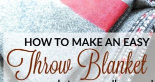 Tutorial: Painted stripe throw blanket