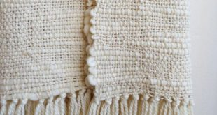 Merino Wool chunky throw Natural Organic Textured, Off White Afghan Blanket hand woven for sustainable home decor
