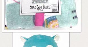 $35.00 #Llama #Blanket 50 x 60 #Alpaca #Squishmallow Gift Set NEW #WarmSnuggly