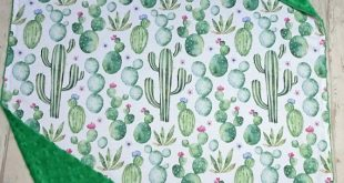 Cactus Baby Blanket, Watercolour Succulent Cactus Baby Shower Gift Gender Neutral, Cactus Blanket, Cactus Baby Bedding, Cactus Nursery Decor