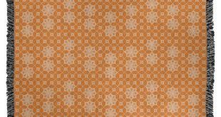 "Ebern Designs Leffel Lattice Woven Blanket Size: 50"" W x 60"" L, Color: Light Orange"