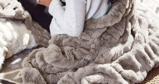 """Faux Fur Ruched Throw, 50 x 60"""", Taupe At Pottery Barn - Decor & Pillows - Throws"""