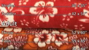 Fleece Blanket Chart Size. 2 Yards Of Fleece Is Perfect For A No Sew Throw. #bab...