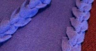 Fleece Blanket with Fancy Edging Tutorial {Fleece}