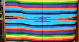 Mexican Blanket Throw Mazatlan Rainbow 5'x7' Durable Seat Cover Style #2
