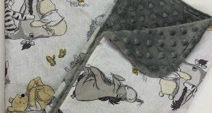 Winnie the Pooh Baby Blanket, Gender Neutral, Minky, Lovey, Nursery Bedding, Shower Gift, Pooh, Tiger, Piglet, Eeyore
