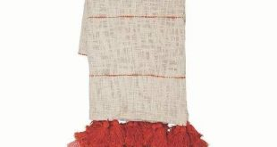 Foreside Home & Garden Hand Woven Gabi Throw - Foreside Home and Garden