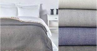 Herringbone Bedspread Pure Cotton Coverlet Blanket Woven | Etsy