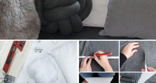 Knotenkissen DIY » Der Wohntrend zum Selbermachen