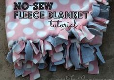 No Sew Fleece Blanket Tutorial ~ Gift Idea
