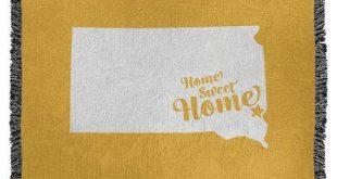 East Urban Home Home Sweet Sioux Falls Woven Cotton Throw