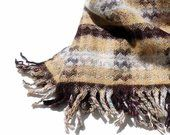 A. ELLIOT LTD. SELKIRK Scotland Pure New Wool Fine Fabric Woolens Hand Woven Bla...