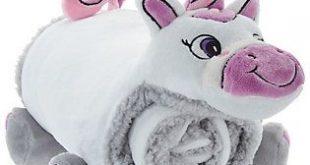 Berkshire Blanket Cozy Throw Animal Buddy Snuggle Set