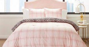 Betseyville Twin/Twin Extra Long Betseys Plaid Comforter Set Pink