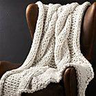 Dante Grey Knit Blanket + Reviews | Crate and Barrel