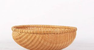 LARGE Woven Basket Bowl / Vintage Woven Fruit Basket / Hand Woven Basket / Blanket Basket / Linen Basket / Garden Basket / Storage Basket
