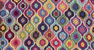 Mystical Lanterns Crochet Blanket in Stylecraft Life DK