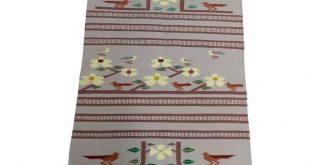 Navajo Hand Woven Wool Saddle Blanket w/Desert Runner Birds 2019 Navajo Hand W...