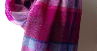 Pure cashmere hand woven scarf / Handwoven blanket scarf / Plaid shawl / Woven wrap / Perfect graduation gift / One of a kind design