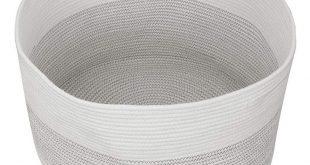 Xxl Large Baby Cotton Rope Storage Laundry Basket Thread Blanket Woven Basket - ...