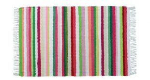 "24,8""x40,1"" Woven blanket Cotton rag rug Handwoven rug Kitchen mat Sofa throw Carpet boho Fl..."