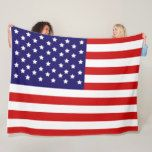 American flag design fleece blanket