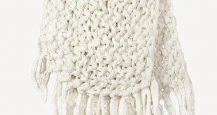 Chunky Knit Blanket w/ Tassels