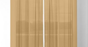 Colors of Autumn Ochre Brown Solid Color Sheer Curtain also available on shower ...