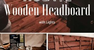 Cool DIY Ideas for Your Bed - DIY Rustic Wooden Headboard - Fun Bedding, Pillows...