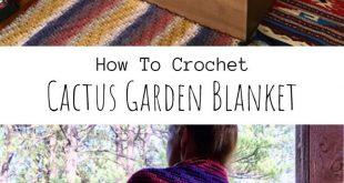 Crochet Cactus Garden Blanket