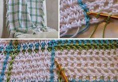 Crochet For Children: Woven Babyblanket on Mesh Ground (Free Pattern)  2019  Cro...