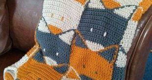 Crochet Fox Blanket my amazing step-brother has made for my baby boy i'm exp...
