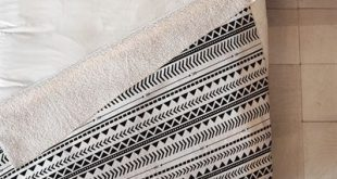 DENY Designs 17932-sfl Black and White Aztec Pattern Sherpa Fleece Blanket by   ...