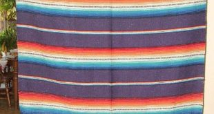 Details about Woven Mexican Blanket Southwestern 5674 Fringed Rio Bravo style PU...