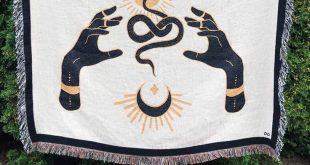 """""""Fortune Snakes"""" Woven Art Blanket by Daphna Sebbane"""