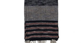 Hand Woven Evan Throw, Black