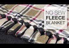 Ich mag diese Art von Knoten. Sie verwendet 5 Fransen. DIY No Sew Fleece Blanke ...