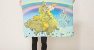 Illustration Fleece Blanket   Zazzle.com