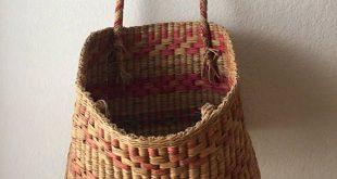 Large Woven Basket With Handles- Made In Peru- Blanket Basket- Large Vintage Bas...