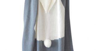 Lovely Rabbit Design Knitted Blanket for Baby