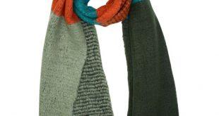 Multicolor Oversize Fuzzy Blanket Scarf