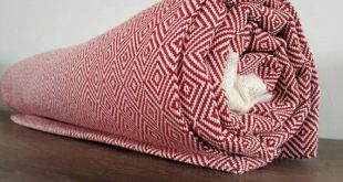 Natural Cotton blanket Red Blanket throw Woven by CottonMood  2019  Natural Cott...