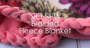 No-Sew Fleece Blanket with a Braided Edge YouTube 2019 No-Sew Fleece Blanket ...